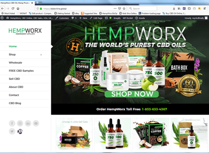CBD Online Global, HempWorx CBD Oil