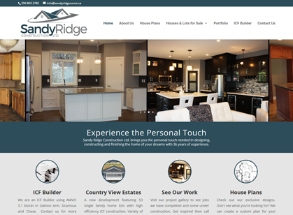 Sandy Ridge Construction, Tappen, BC