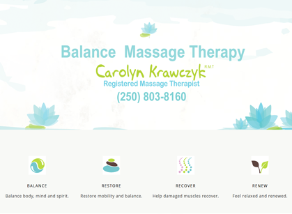 Salmon Arm Massage Therapy Carolyn Krawczyk